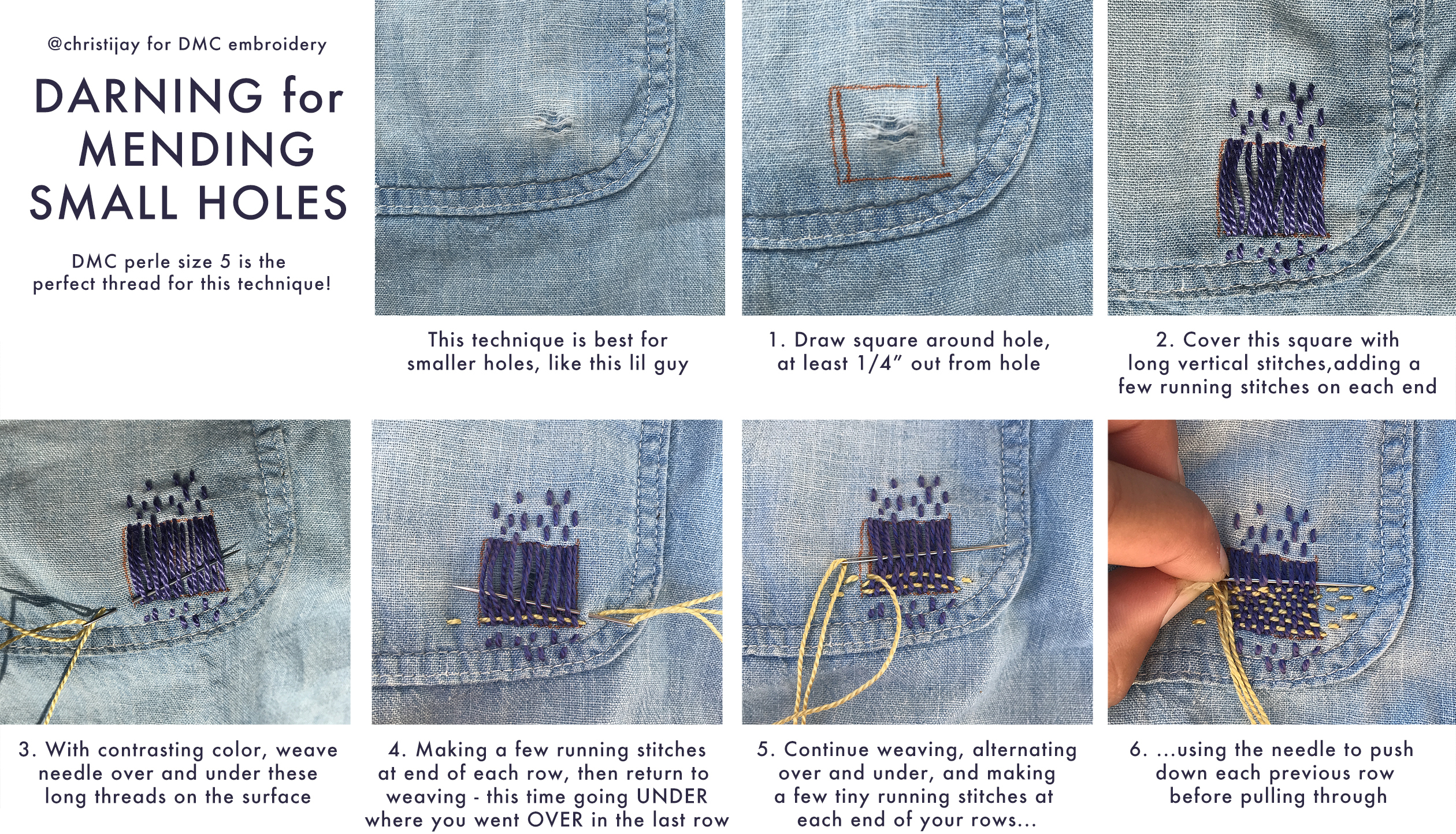Darning for Mending Small Holes