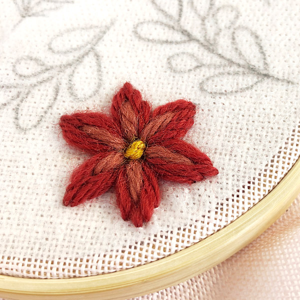 French Knot Poinsettia Center