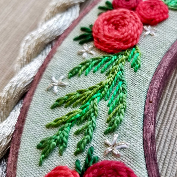 Holiday Wreath by Jessica Long Detail