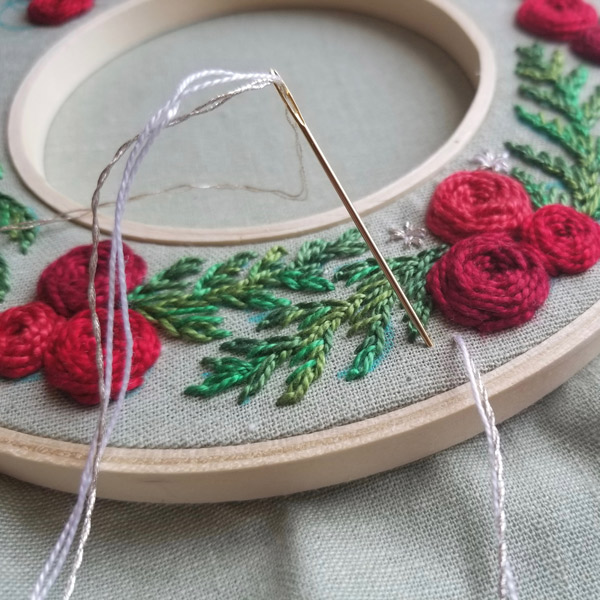 Holiday Wreath by Jessica Long Detail 2