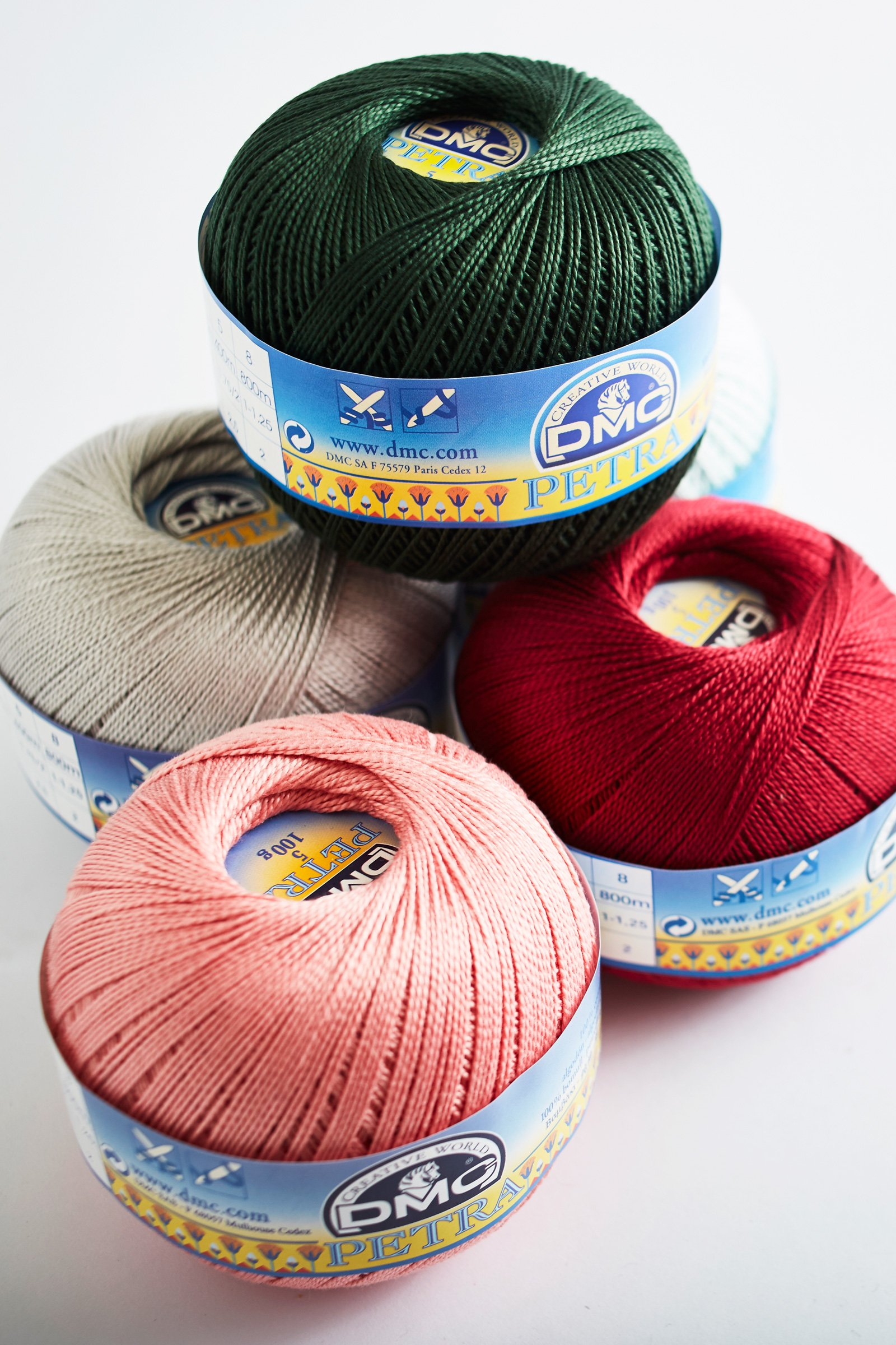 Petra Cotton Thread Size 5 - 100g/437 yds - 33 colors Available