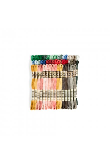 The Jacquard Bundle: 50-Color Assortment of DMC Six-Strand Embroidery Floss