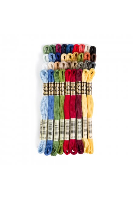 DMC Six Strand Embroidery Floss Bright Primary Pack