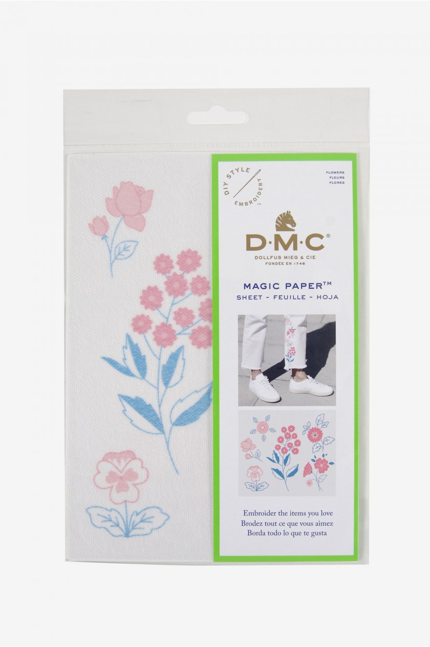 Flower Collection Embroidery Magic Paper Diy Style Embroidery Dmc