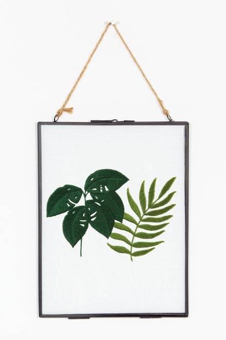 Sew & saunders philodendron & fougère - motif broderie