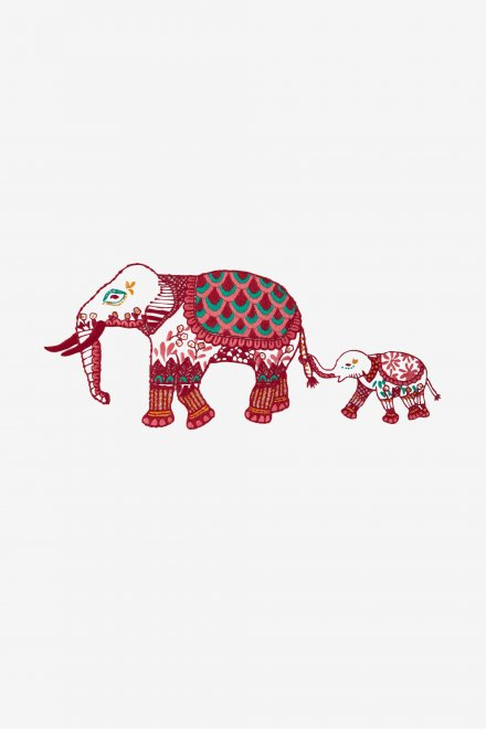 Indian Elephant - pattern