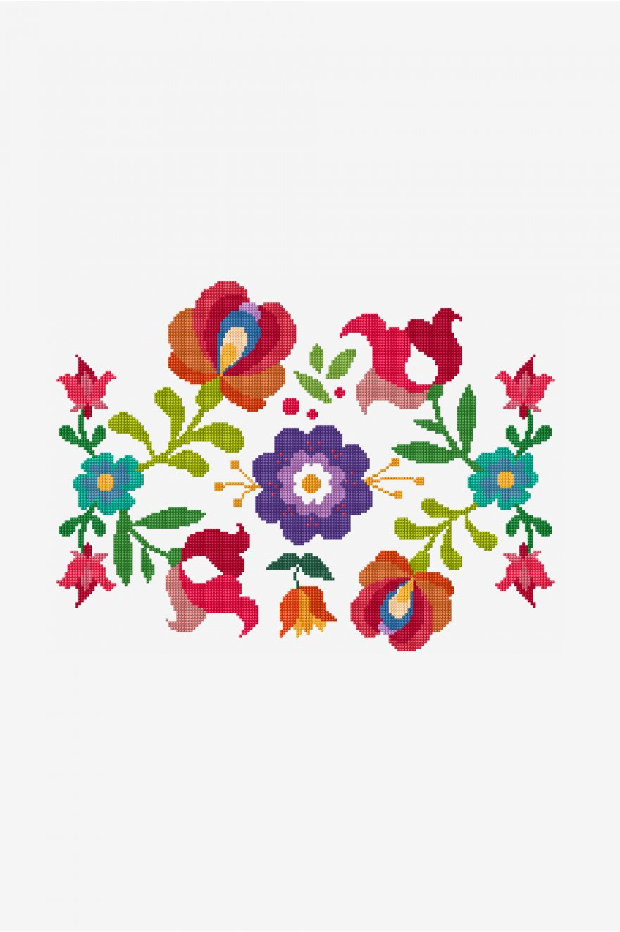 summer mexican flowers pattern free cross stitch Crochet Clip Art Yarn Crochet Graphics
