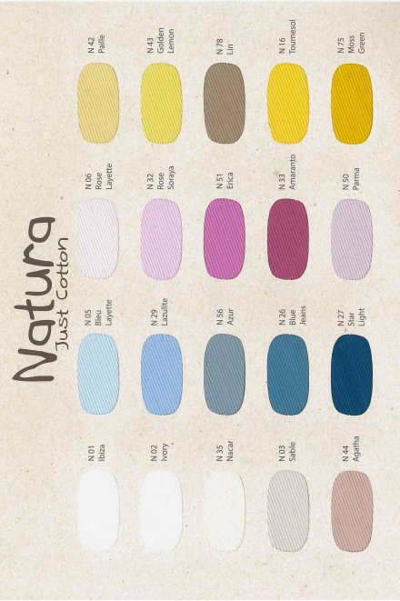 Natura Just Cotton Color Card