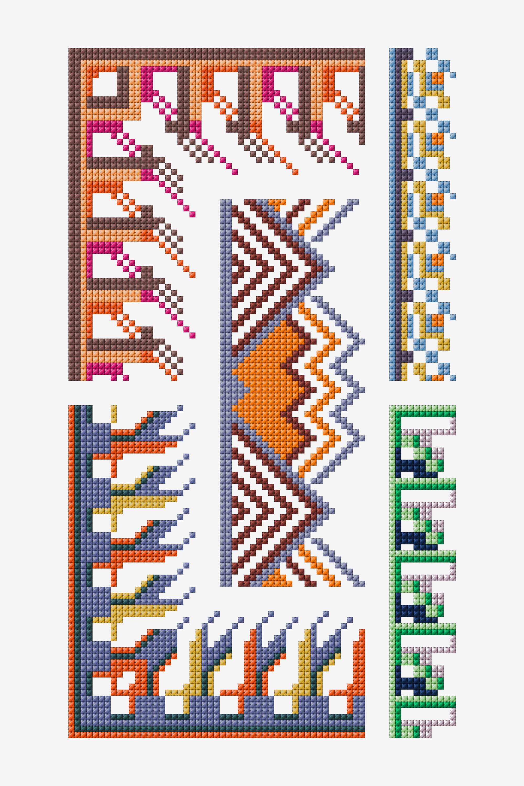 Free embroidery designs and cross stitch patterns dmc point de marque 611 pattern geenschuldenfo Images