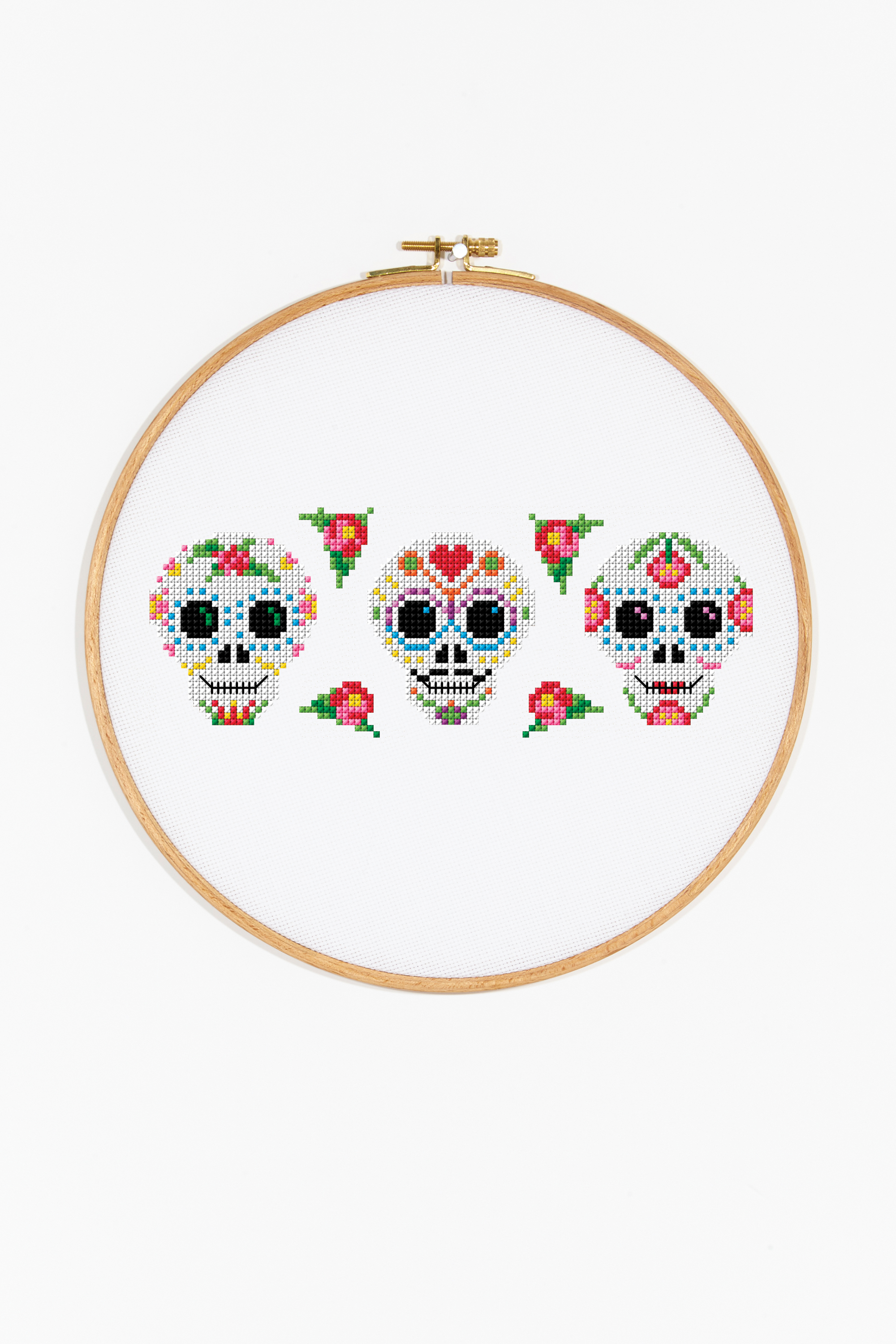 Mexican Day Of The Dead Pattern Free Cross Stitch Patterns Dmc