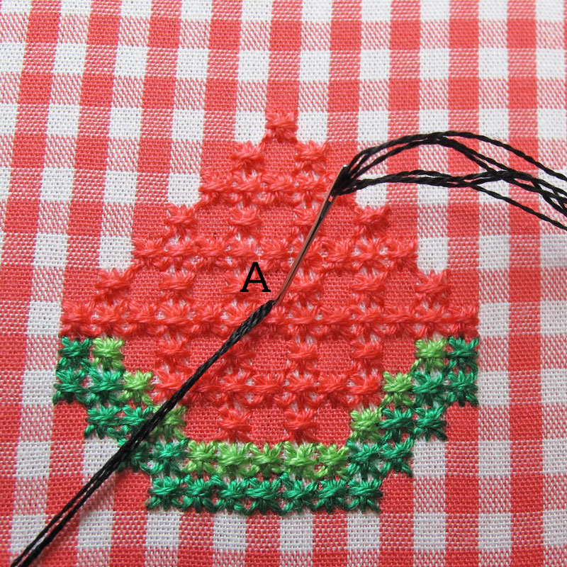 Gingham-Embroidery-Watermelon-14a