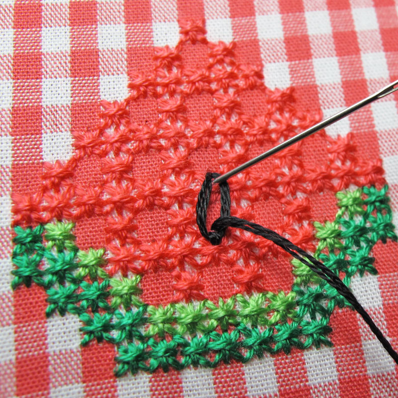 Gingham-Embroidery-Watermelon-14d