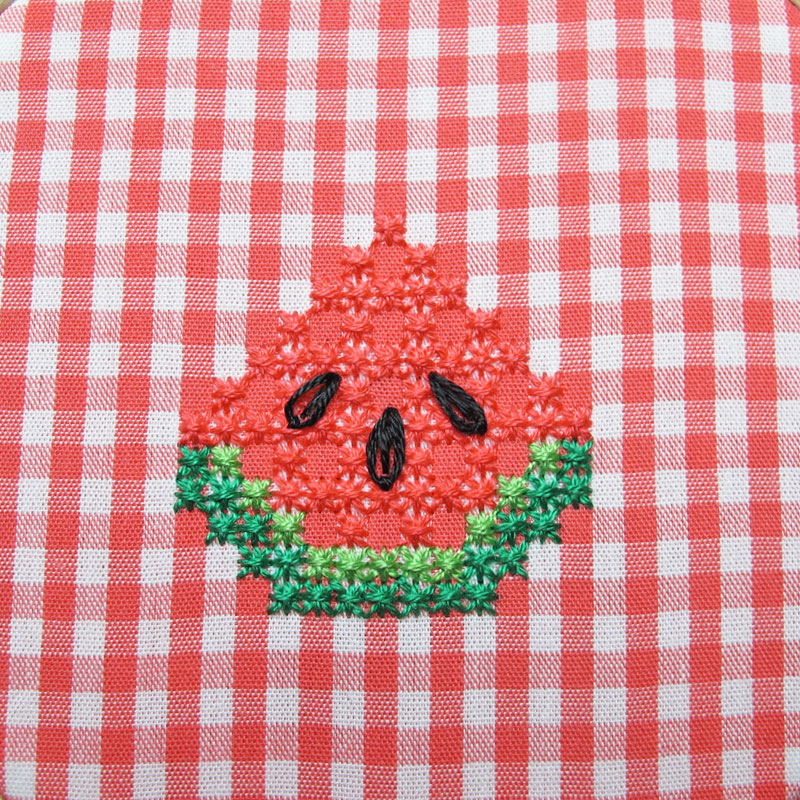 Gingham-Embroidery-Watermelon-14e