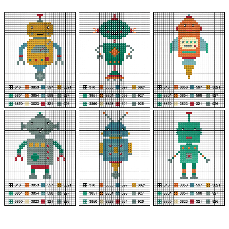 Cross-Stitch-Robot-Afghan-Body