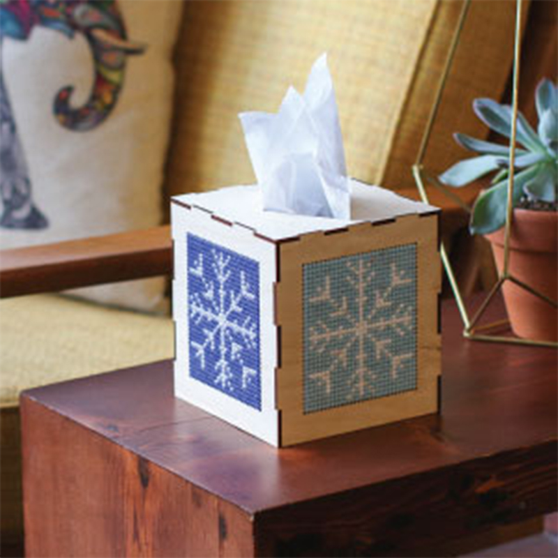 The stitchable tissue box.