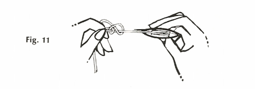 Figure 11: Finishing the Double Knot